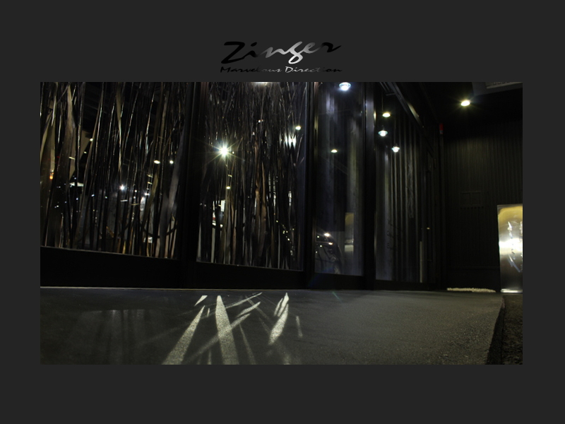 Zingerの演出。